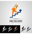 delivery logo design template courier or package vector image