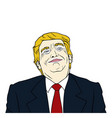donald trump president of united states of america vector image vector image