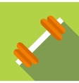 Dumbbell icon flat style vector image vector image
