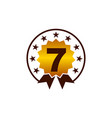 emblem best quality number 7 vector image vector image