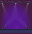 empty stage with blue lightening vector image vector image