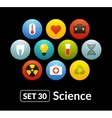 Flat icons set 30 - science and medicine vector image