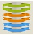 Flat Ribbons vector image vector image