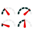 gauge level-indicator symbol set from low to high vector image