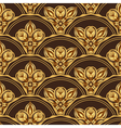 Gold and browne seamless pattern vector image vector image