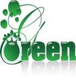 GREEN A vector image vector image