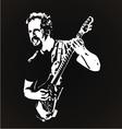 Guitarist Stencil Art