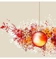 hanging christmas ball vector image vector image