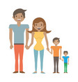 happy family love members vector image vector image