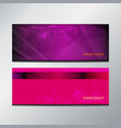header banner purple vector image vector image