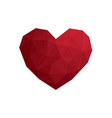 heart love polygon geometric flat design icon vector image vector image
