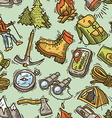 hike seamless pattern vector image