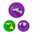 hotel and equipment flat icons in set collection vector image vector image