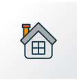 house icon colored line symbol premium quality vector image vector image