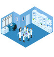 isometric science laboratory concept vector image vector image