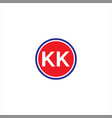k k double letter logo icon design vector image vector image