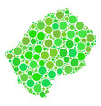 lesotho map mosaic of circles vector image