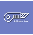 Linear logo for stationery store vector image vector image