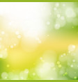new sunny abstract green nature background vector image