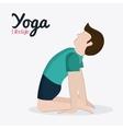 People doing yoga desgin vector image