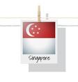 photo of singapore flag on white background vector image