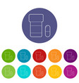 pills in jar icons set color vector image