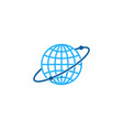 planet globe logo icon design vector image vector image