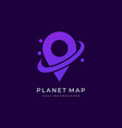 planet map template vector image vector image