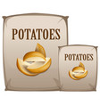 potatoes in the bag vector image