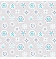 Seamless winter background with snowflakes vector image vector image