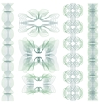 Set of guilloche element vector image vector image