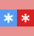 set snowflake icon for christmas design on vector image