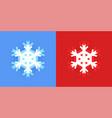 set snowflake icon for christmas design vector image vector image