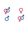 set traditional female and male symbols venus vector image
