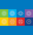 seven chakras human body with symbol om vector image