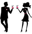 Silhouette of man and women vector image