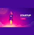 startup concept rocket launch icon - can be used vector image vector image