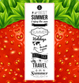 Summer poster Optical strawberry background vector image vector image