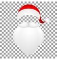 Template Santa Claus his mustache with a beard vector image vector image