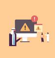 warning notification concept danger piracy error vector image vector image