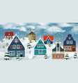 winter landscape dutch countryside vector image