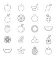 Fruit Icons Line Set vector image