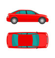 car view top and side flat styled vector image