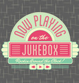 1950s Jukebox Style Logo Design vector image vector image