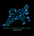 2018 new year of canis major dog constellation vector image vector image