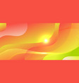 abstract background green and red gradient wave vector image vector image