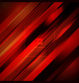 abstract red color light diagonal line technology vector image vector image