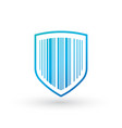 abstract security icon isolated on white vector image