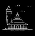 agung banten mosque icon muslims religion in java vector image vector image