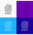 aim focus goal target targeting icon over various vector image vector image